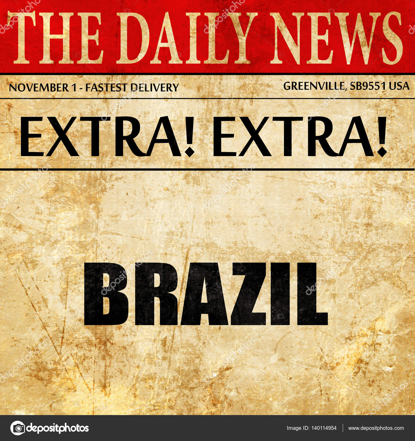 Greetings from brazil newspaper article text stock photo greetings from brazil newspaper article text stock photo m4hsunfo