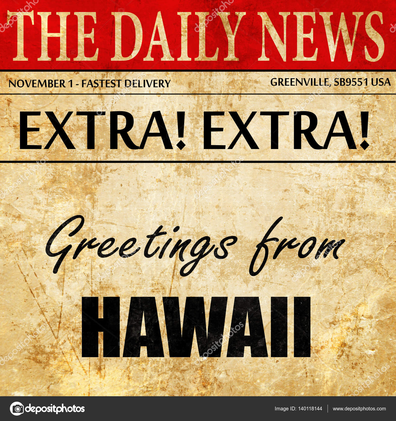 Greetings from hawaii newspaper article text stock photo greetings from hawaii newspaper article text stock photo kristyandbryce Choice Image