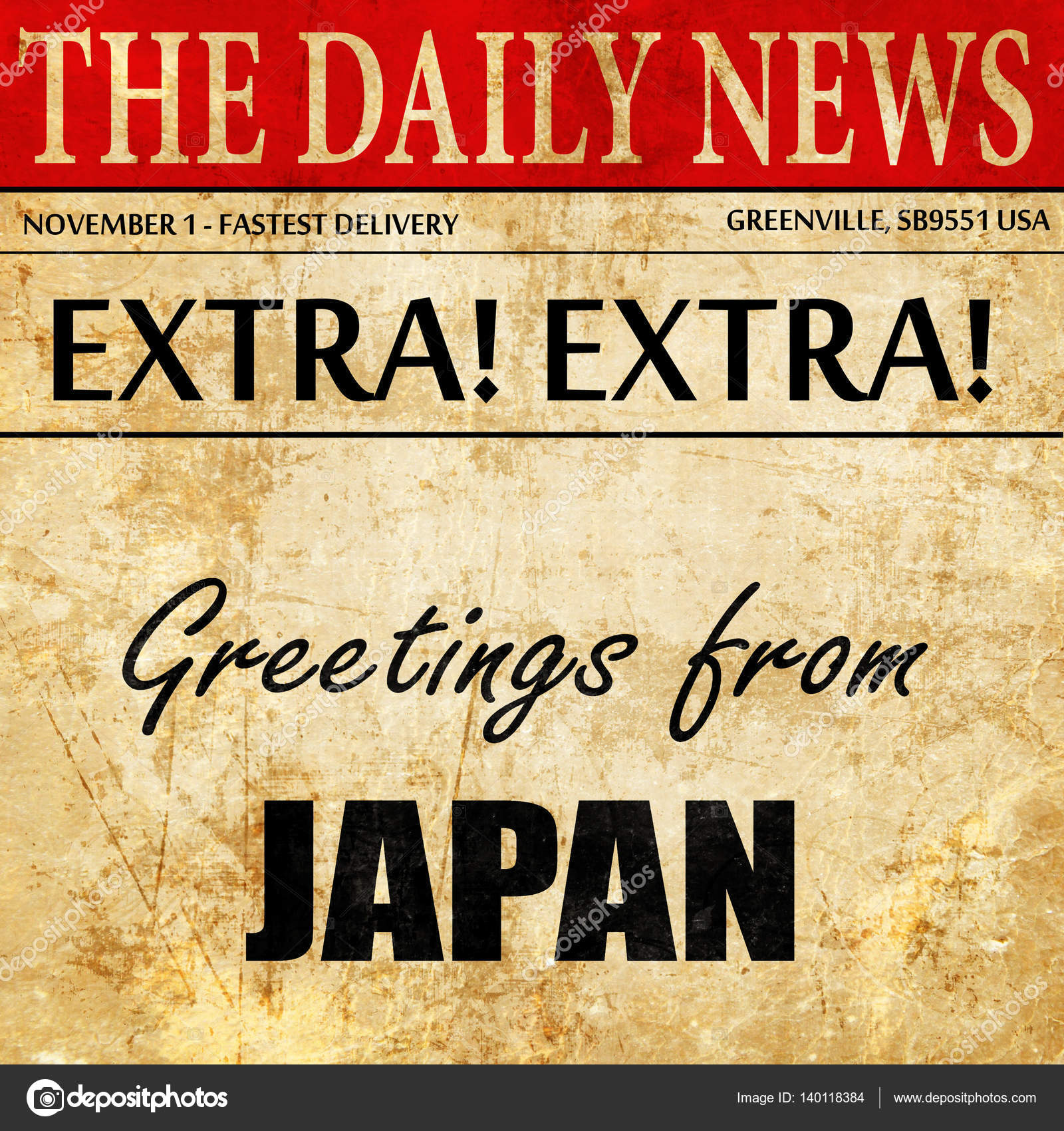 Greetings from japan newspaper article text stock photo greetings from japan newspaper article text stock photo m4hsunfo