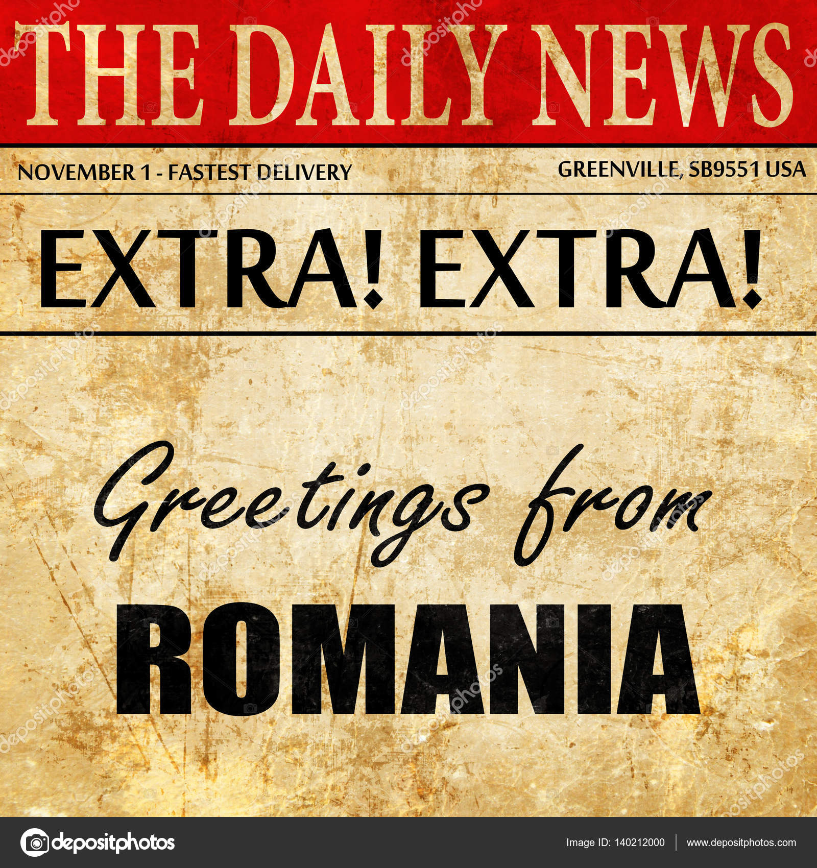 Greetings from romania newspaper article text stock photo greetings from romania newspaper article text stock photo m4hsunfo