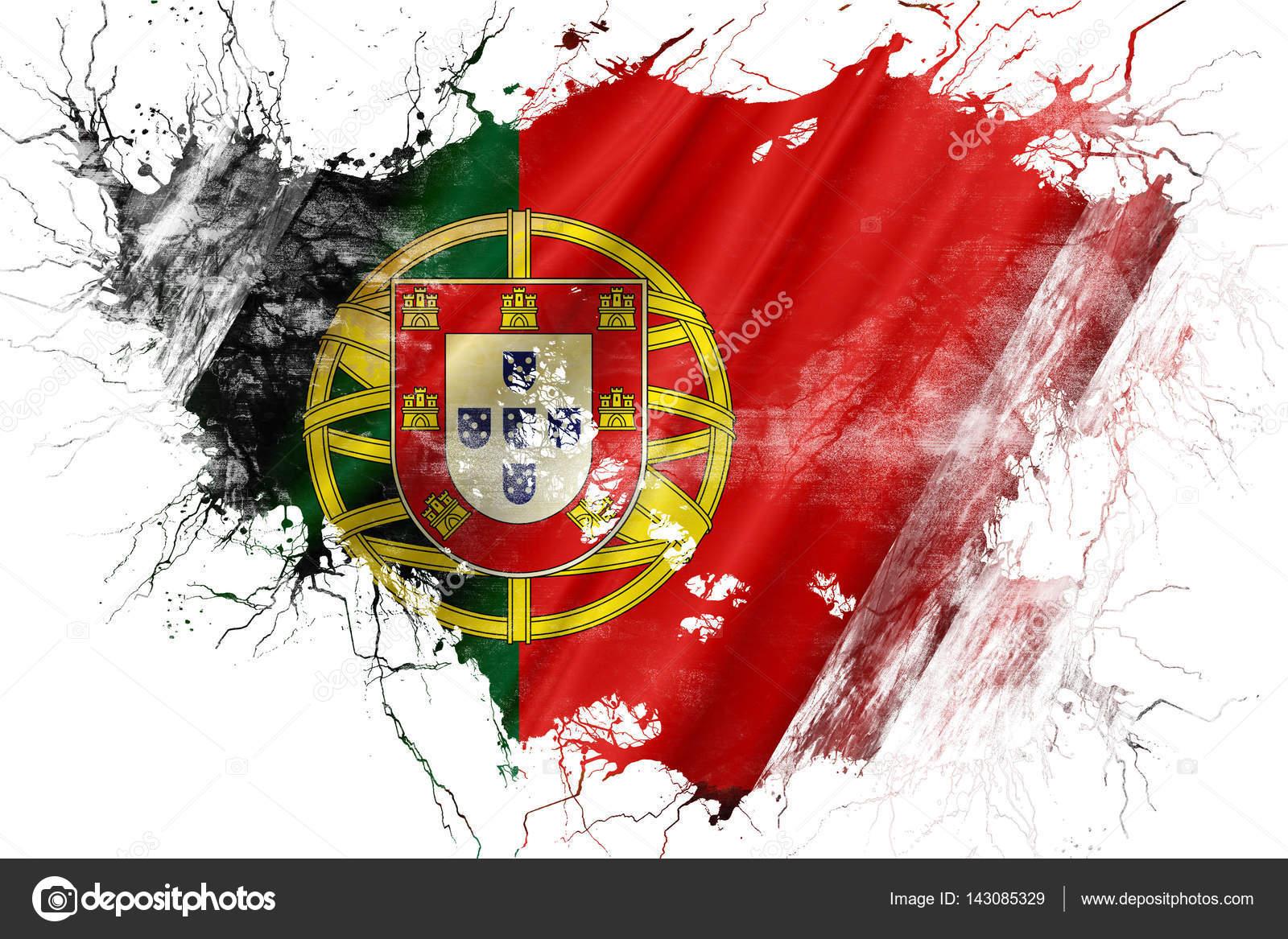 Ancien drapeau de Portugal grunge — Photographie ellandar
