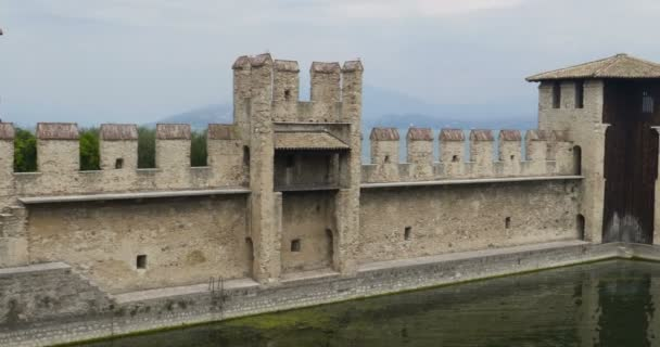Sirmione castle, a medieval fortress in ancient Sirmione town. Lake Garda, Italy.