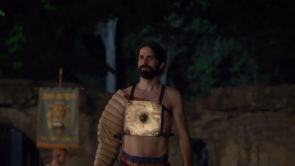 Römischer Gladiatorenthraex aus nächster Nähe