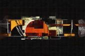 Abstraktní barvy designu umění ilustrace