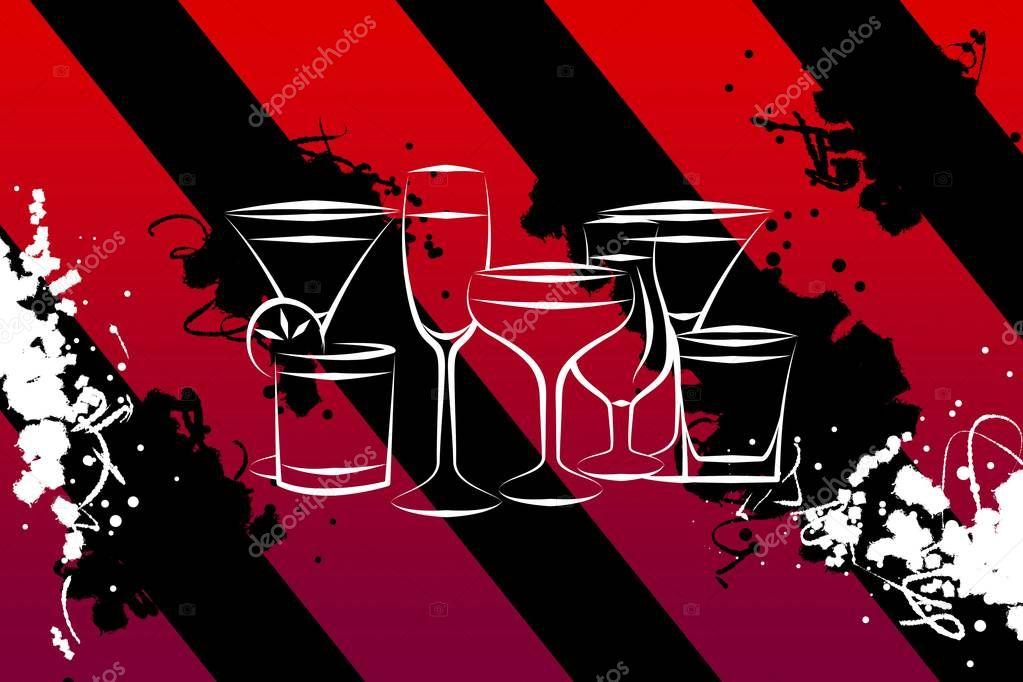 verschiedene arten von alkohol auf einem kreativen hintergrund stockfoto maxtor7777 147028531. Black Bedroom Furniture Sets. Home Design Ideas
