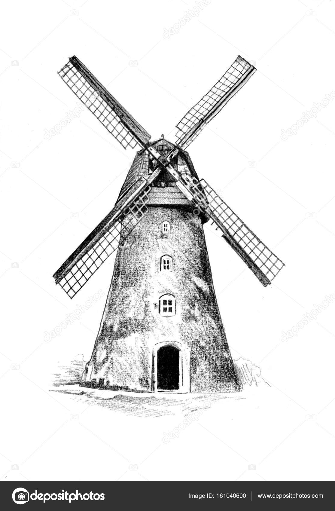 list of synonyms and antonyms of the word  windmill drawing