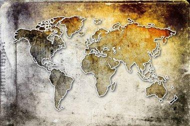 World map paint design art
