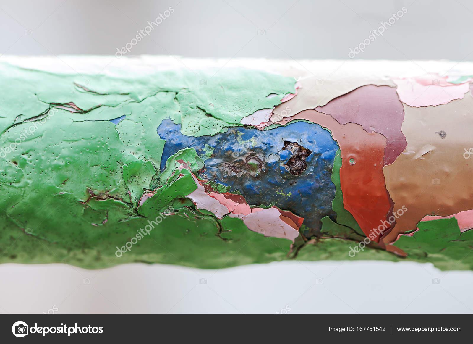 Peinture qui s caille couches color es photographie - Peinture qui s ecaille ...