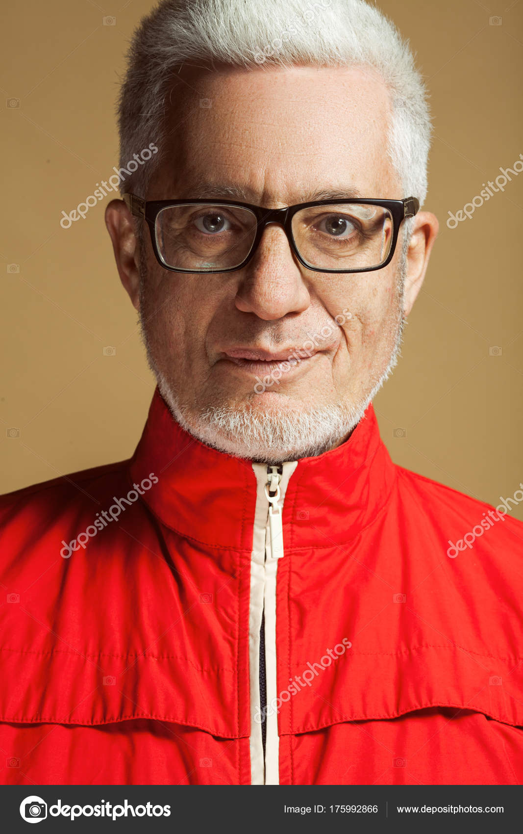 Fabelhafte Jedem Alter Brillen Konzept Porträt Von Modischen
