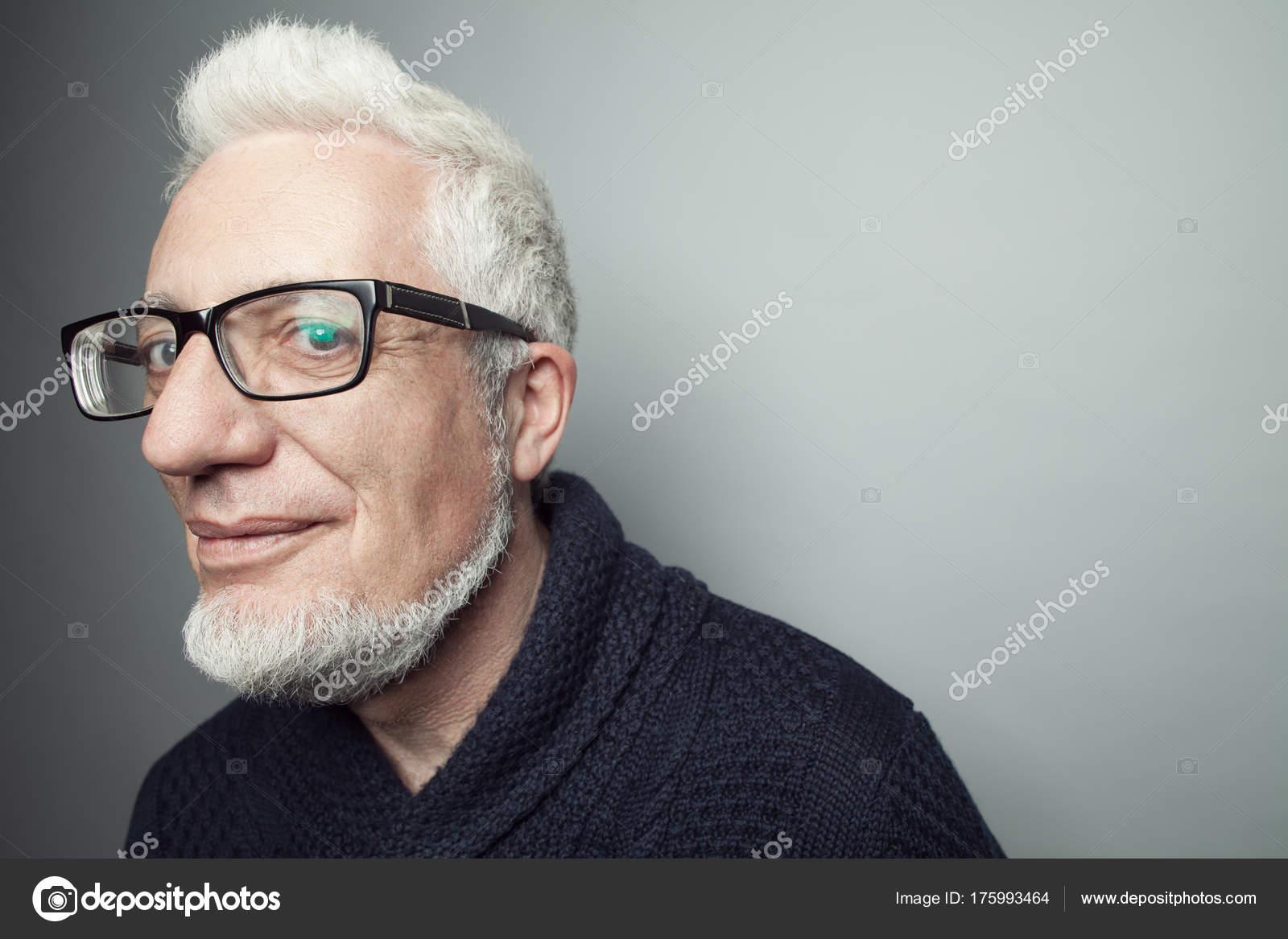 Fabelhafte Jedem Alter Brillen Konzept Porträt Von Modischen Jahre
