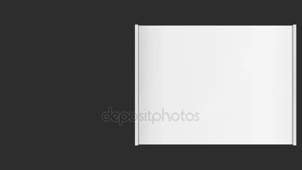 Horizontální roll prázdný nápis na černém pozadí