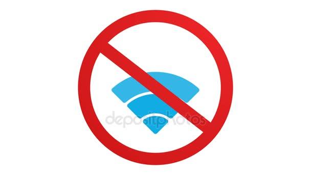 Animált vezeték nélküli hálózat ikonra