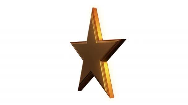 Zlatá hvězda otočit na bílém