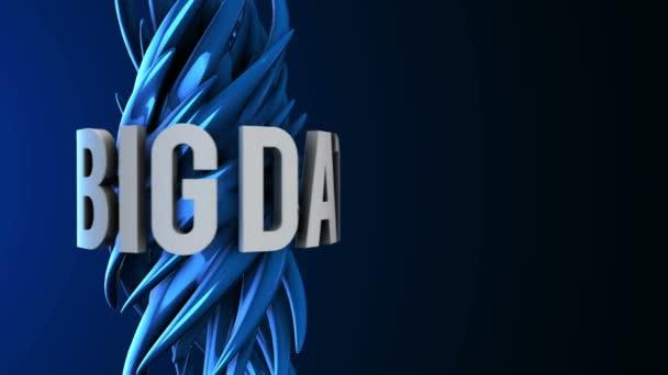 3D big data hluku abstraktní logo. vykreslení 3D Hd záběry
