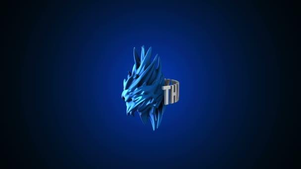 3D Děkuji hluku abstraktní logo. vykreslení 3D Hd záběry