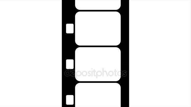 Super 8 mm-es Film csík fekete-fehér felvétel