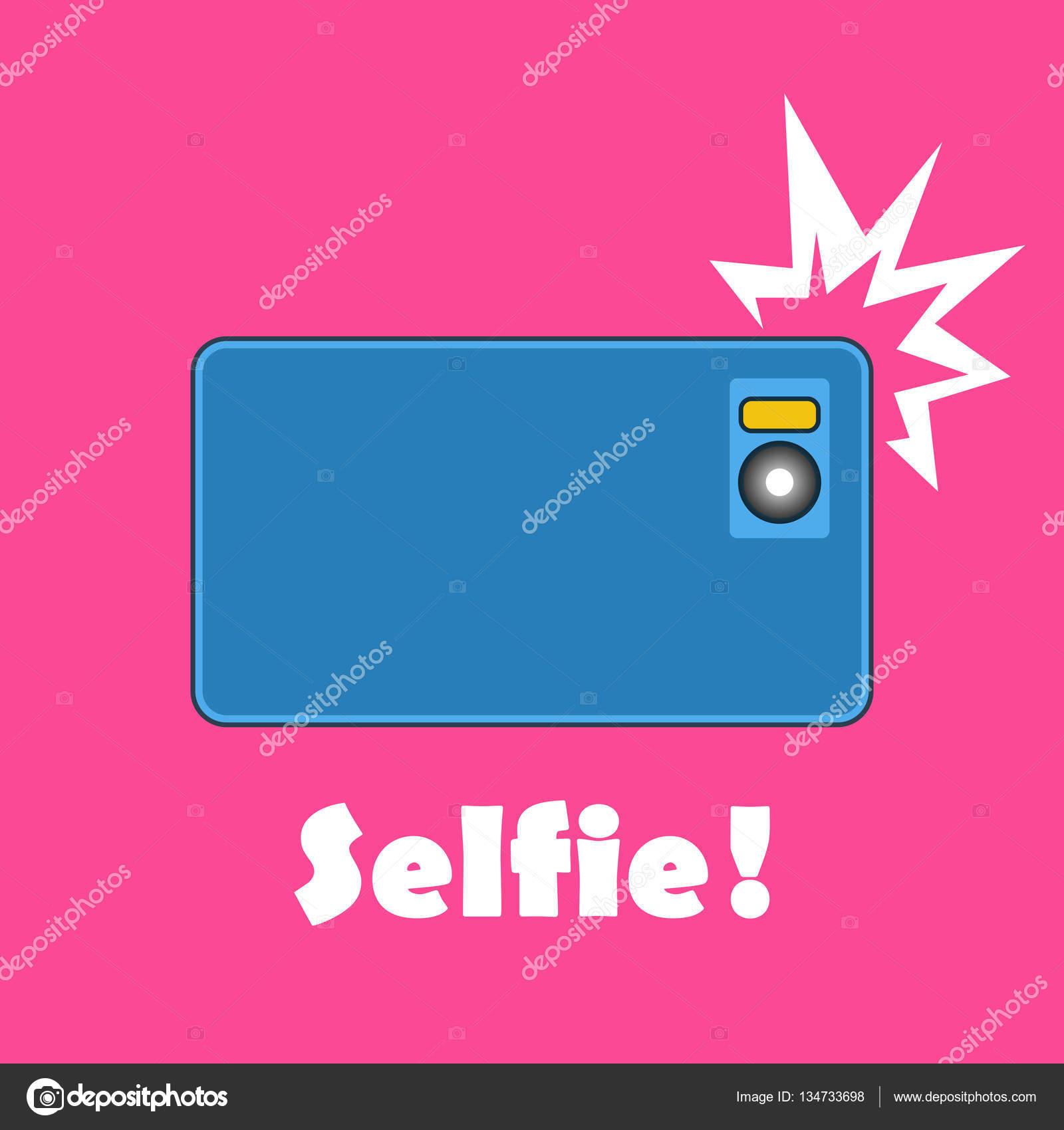 Принимая фото selfie на смарт-телефон концепции баннер — векторное.