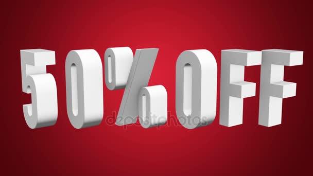 50 procent z 3d písmen otočit na bílém pozadí