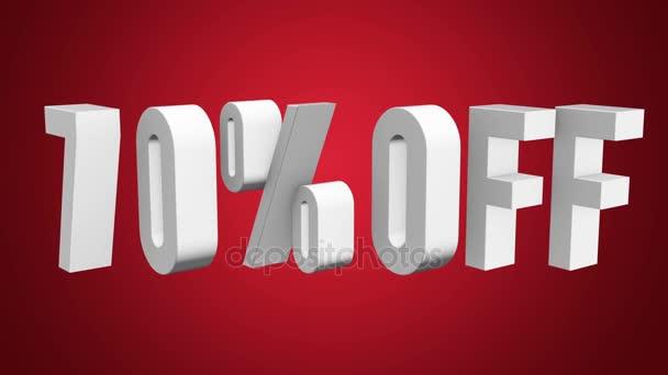 70 procent z 3d písmen otočit na bílém pozadí