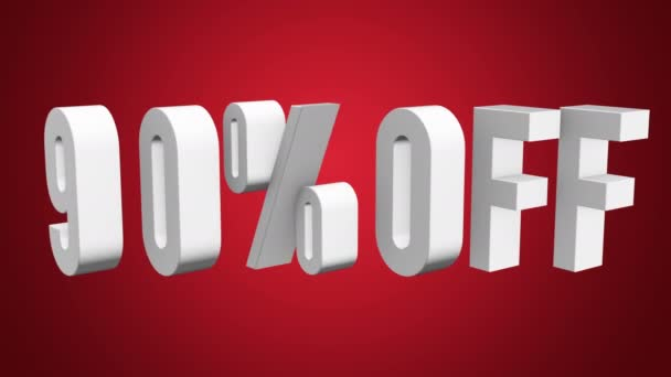 Otočit 90 procent z 3d písmena na bílém pozadí