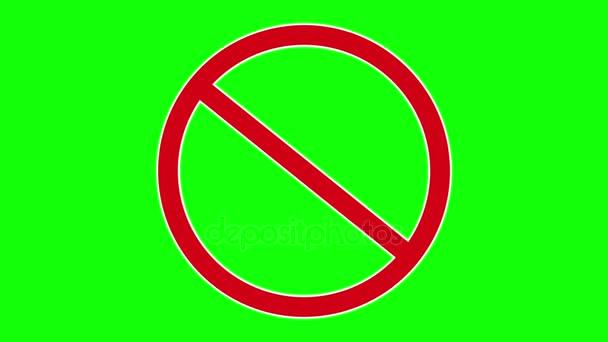 červené zakázané dopravní značka