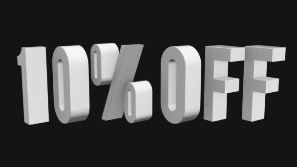 10 procent z 3d písmen otočit na černém pozadí