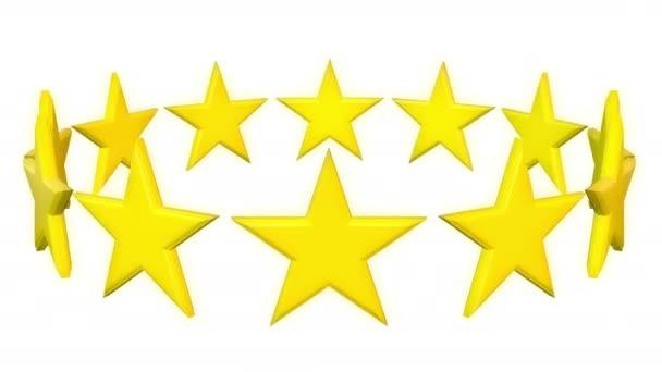 Zlaté hvězdy putují na bílém