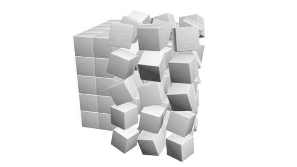 Krychle bloku. Montáž velkých dat koncept