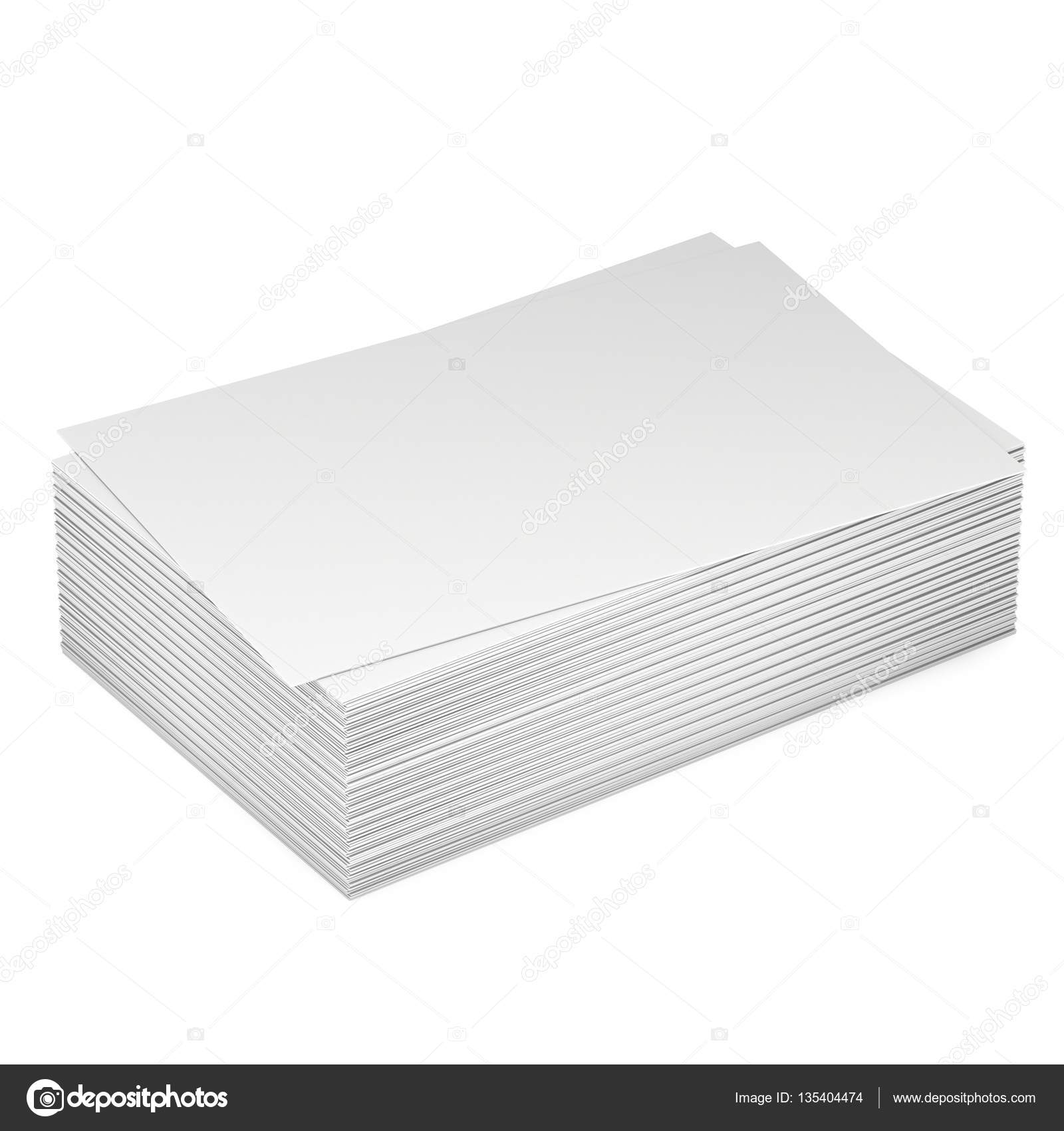 Stack of blank business cards. — Stock Photo © newb1 #135404474