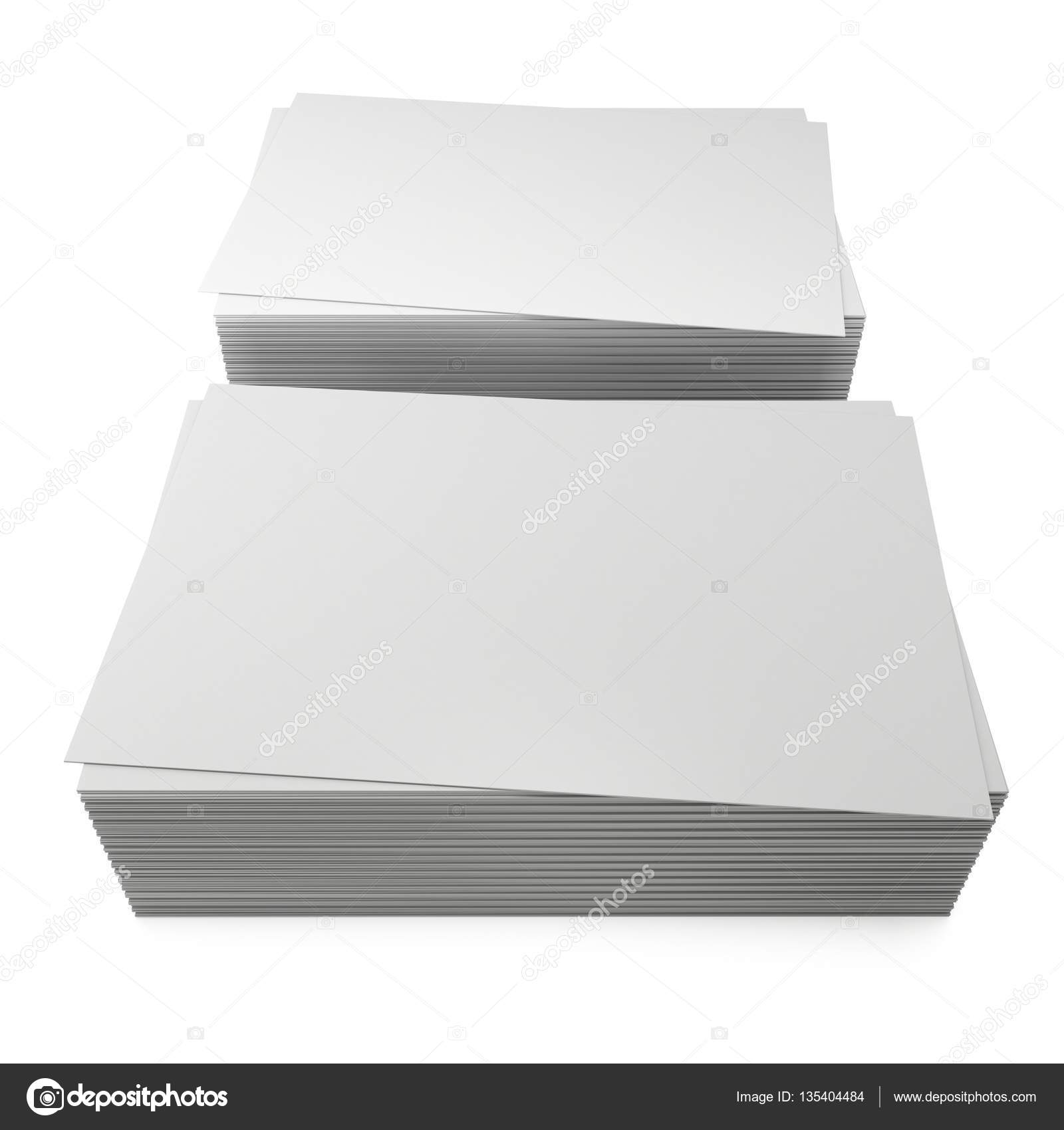 Stack of blank business cards. — Stock Photo © newb1 #135404484