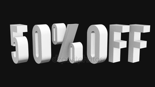 50 procent z 3d písmen otočit na černém pozadí