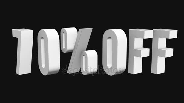 70 procent z 3d písmen otočit na černém pozadí