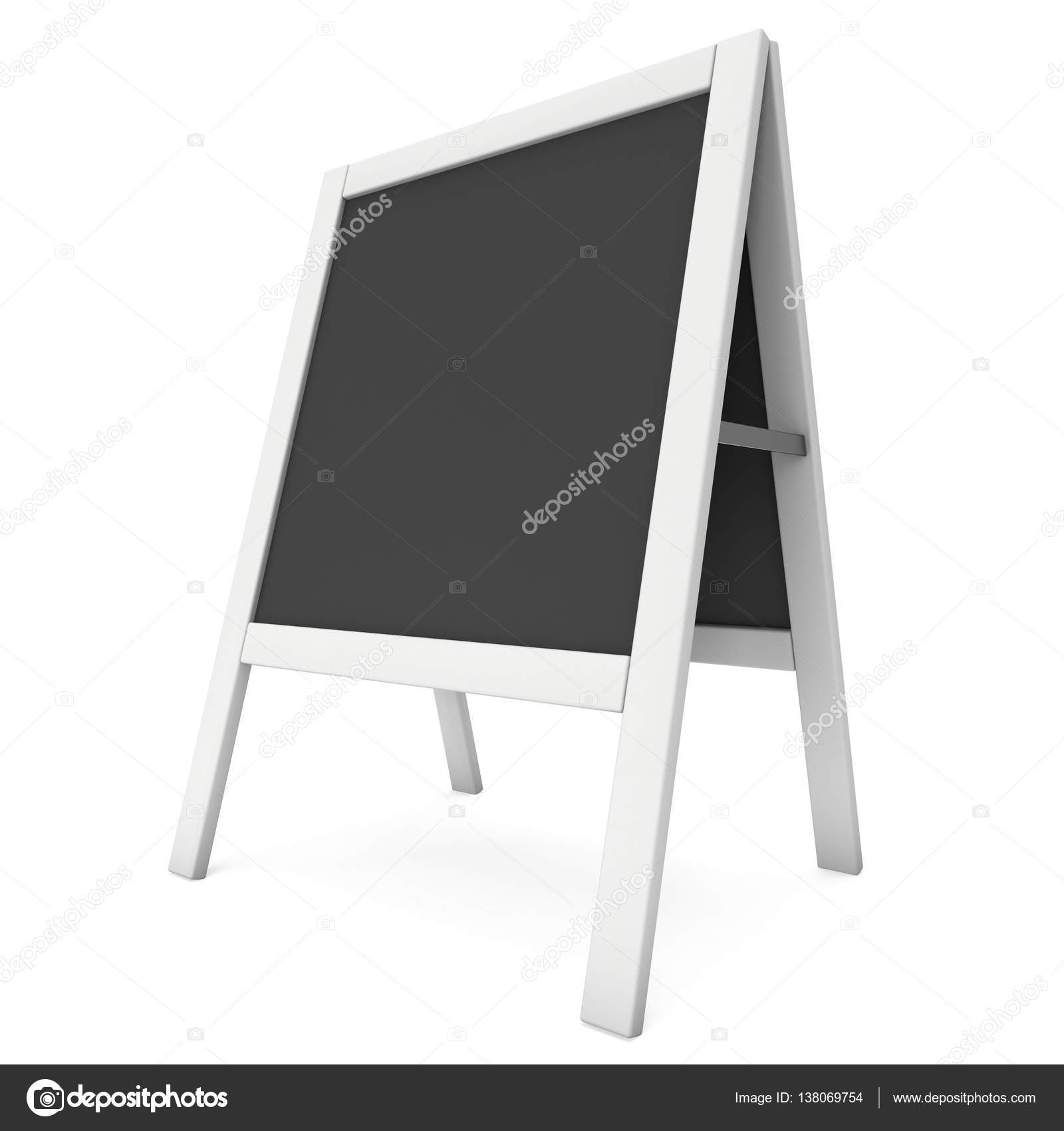 Sandwich board. Black menu outdoor display with clipping path ...