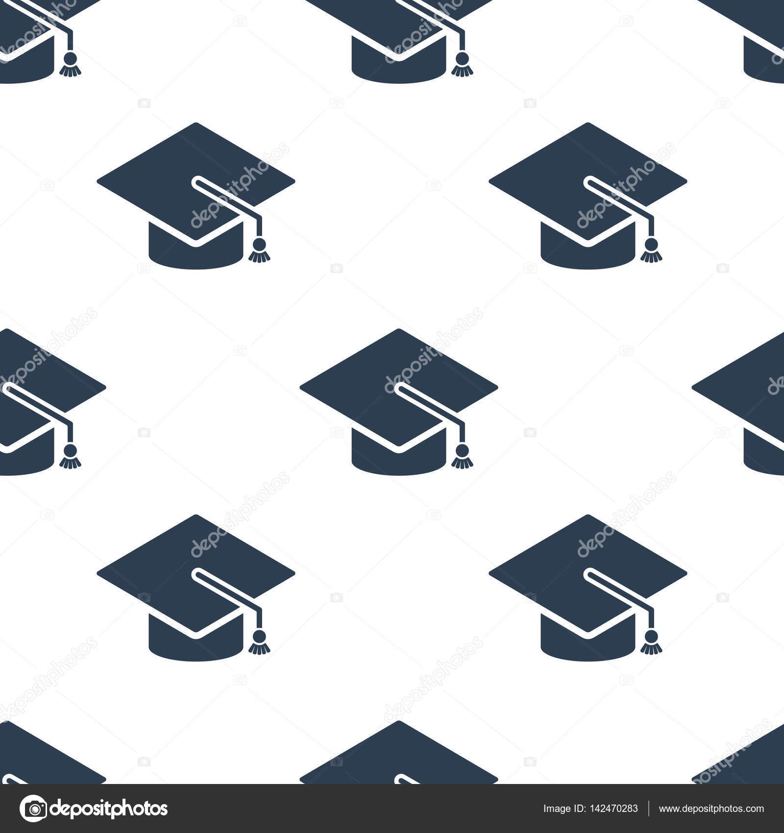 Ornamentos graduacion | Graduación cap icono de patrones sin fisuras ...
