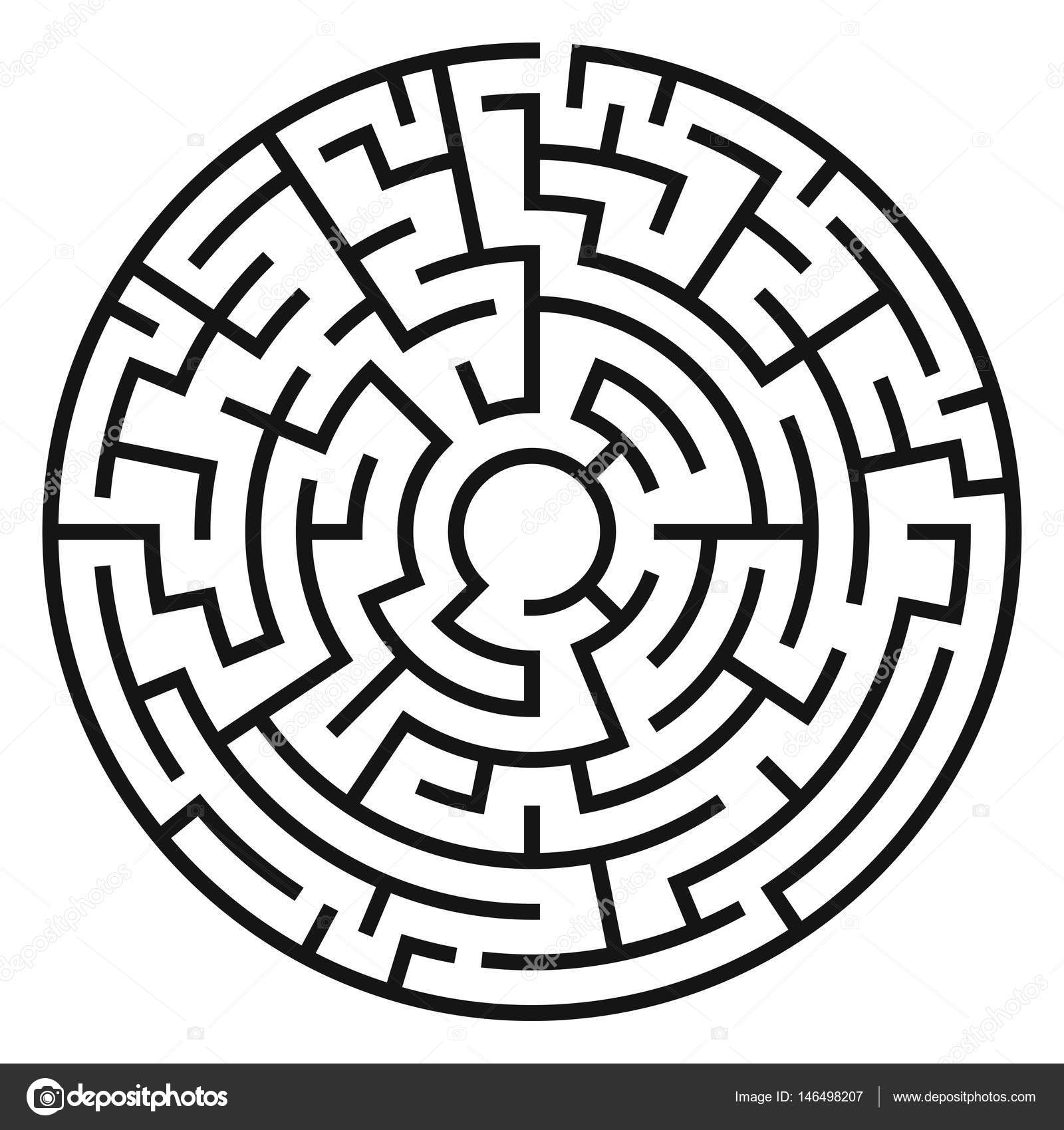 Stock Illustration Circle Maze Vector on File Maze Type Standard