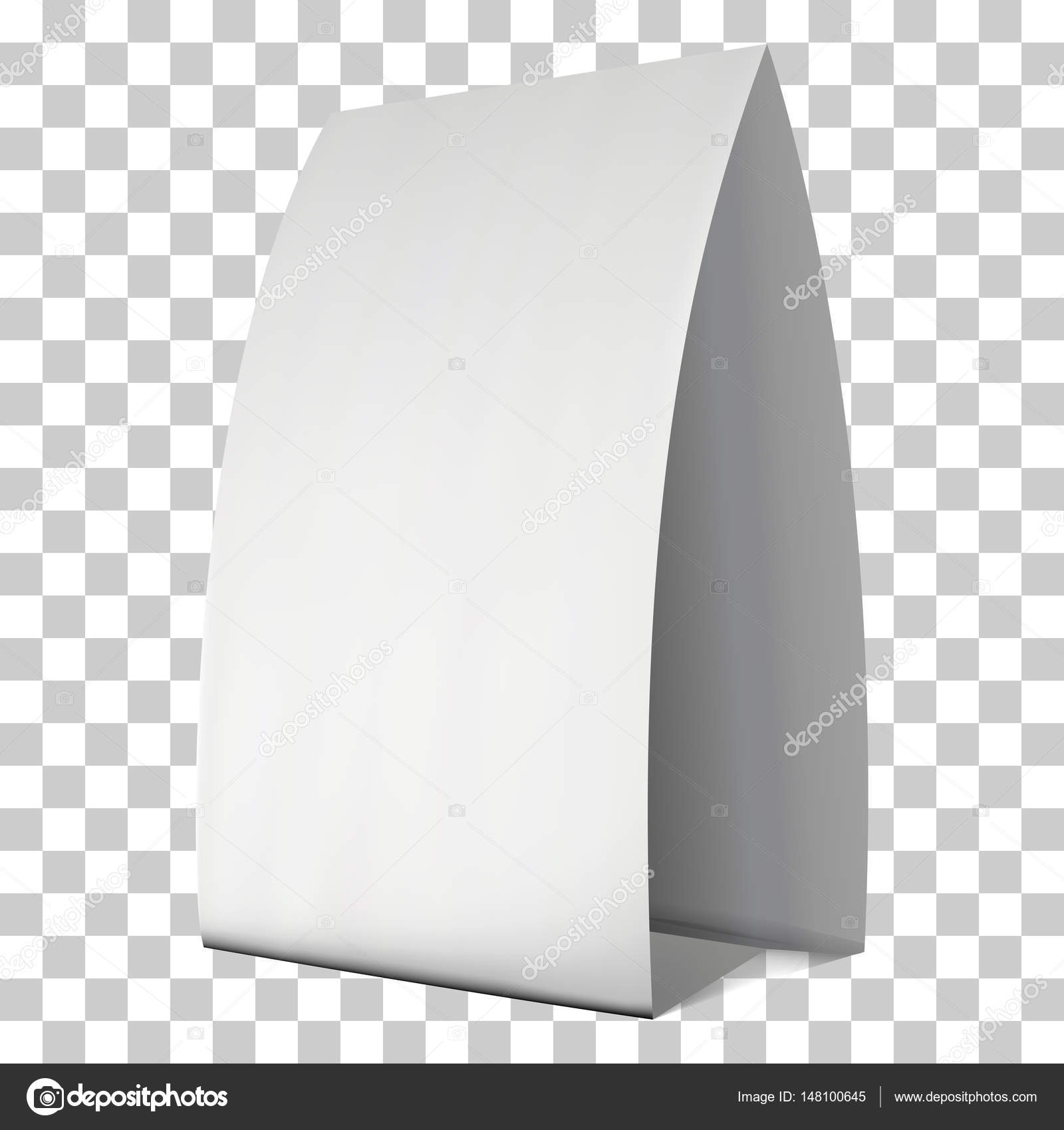 picture about Printable Tent Card named Blank paper tent card. Vector Inventory Vector © newb1 #148100645