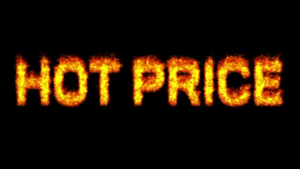Hot price burning word on fire.