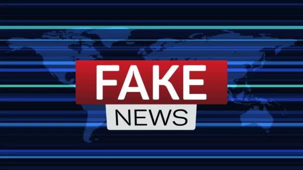 Falešné zprávy živě banner na worldmap