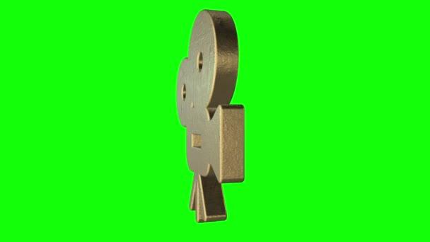 Film fényképezőgép logó elforgathatja zöld