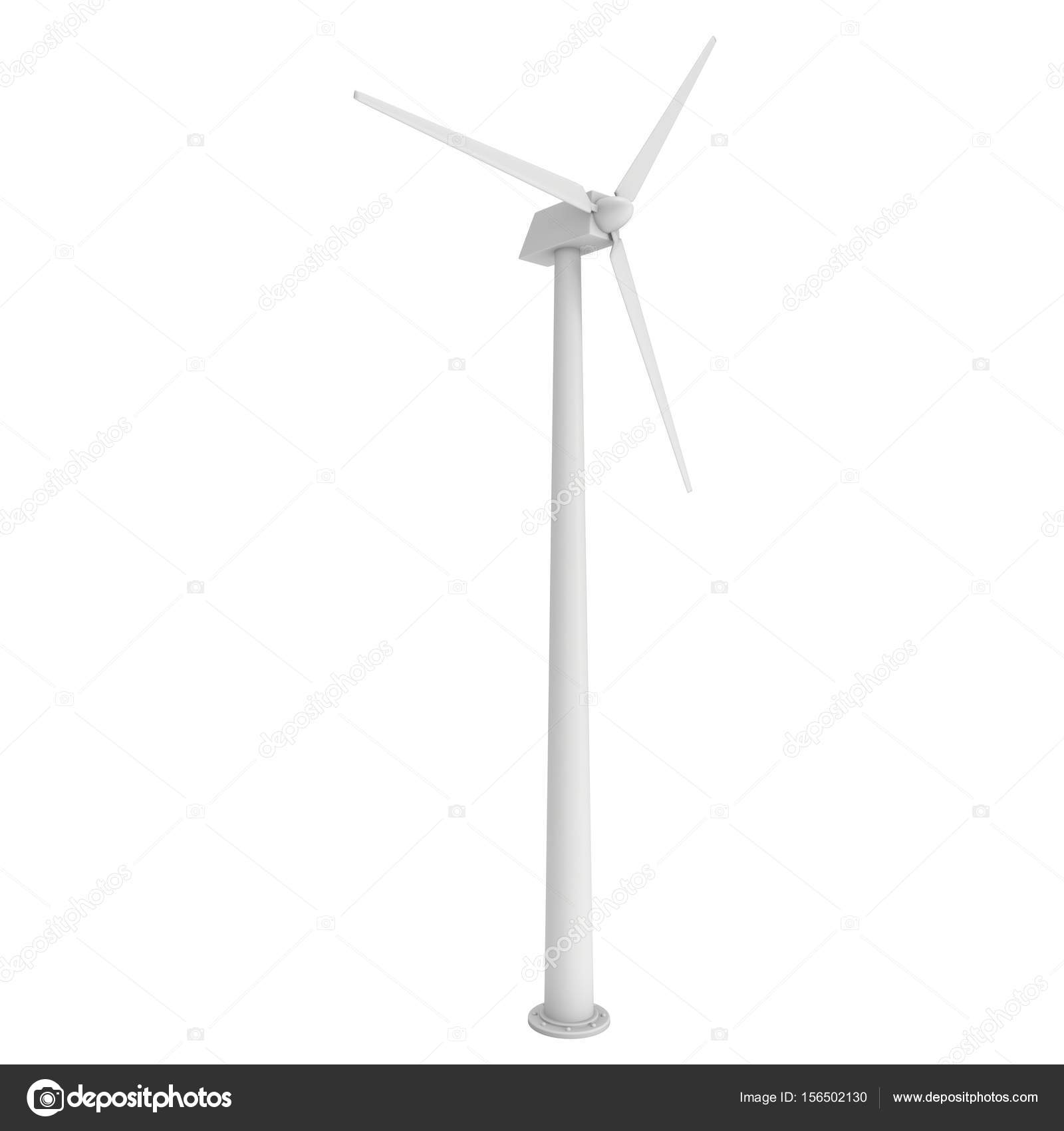 Wind turbine 3d render — Stock Photo © newb1 #156502130