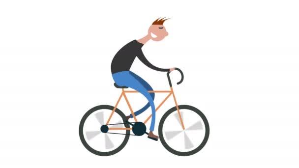Karikatura člověka Cyklistika silniční kolo