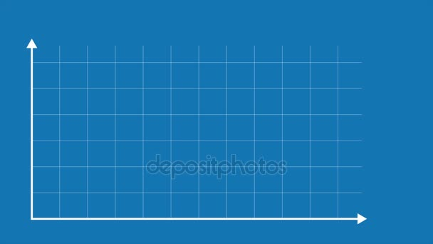 Arrows axis with grid for infographic graph chart