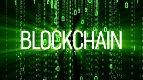 Blockchain Technology Matrix Background Stock Video
