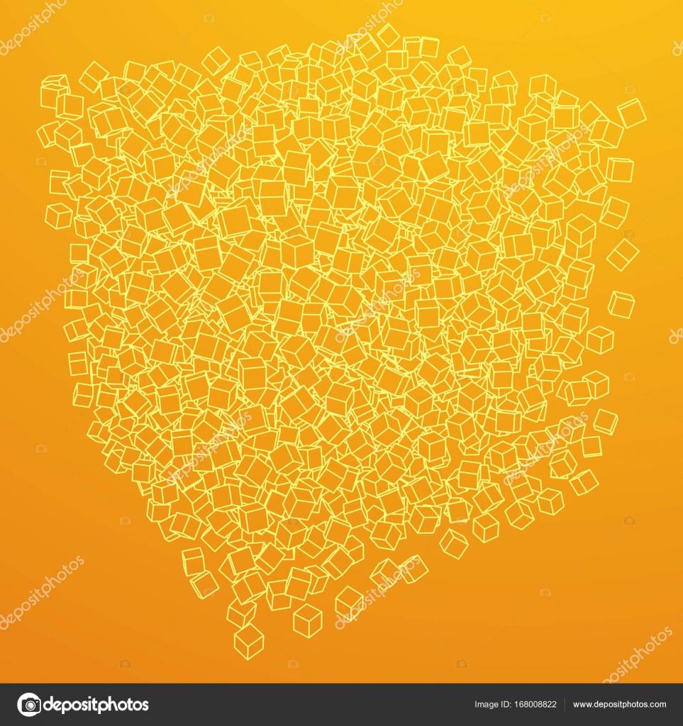 Wireframe-Mesh-Cube — Stockvektor © newb1 #168008822
