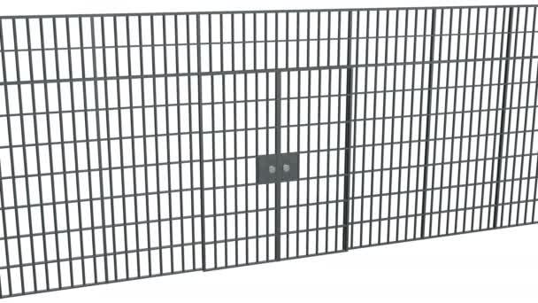 Gefängnisgitter geschlossen