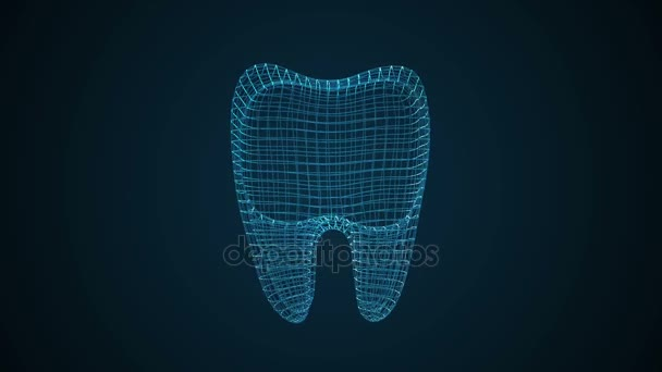 Animación de rayos x dental — Vídeos de Stock © newb1 #171058486