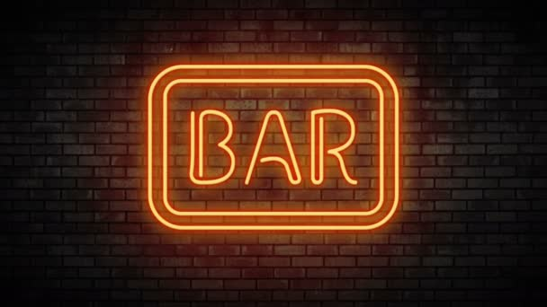 Bar neon light on brick wall stock video newb1 171154798 bar neon light on brick wall stock video aloadofball Images