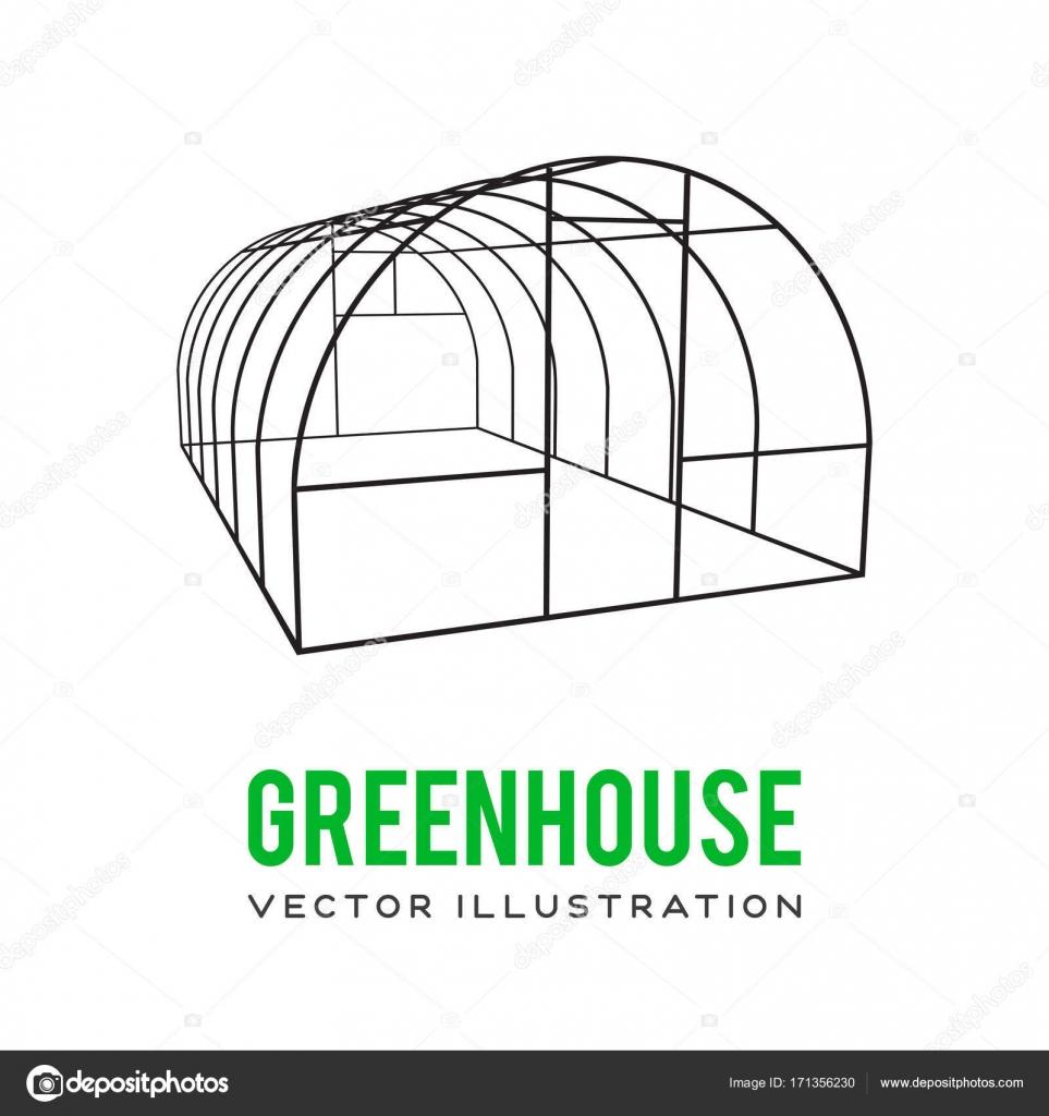 Marco de construcción de invernadero — Archivo Imágenes Vectoriales ...