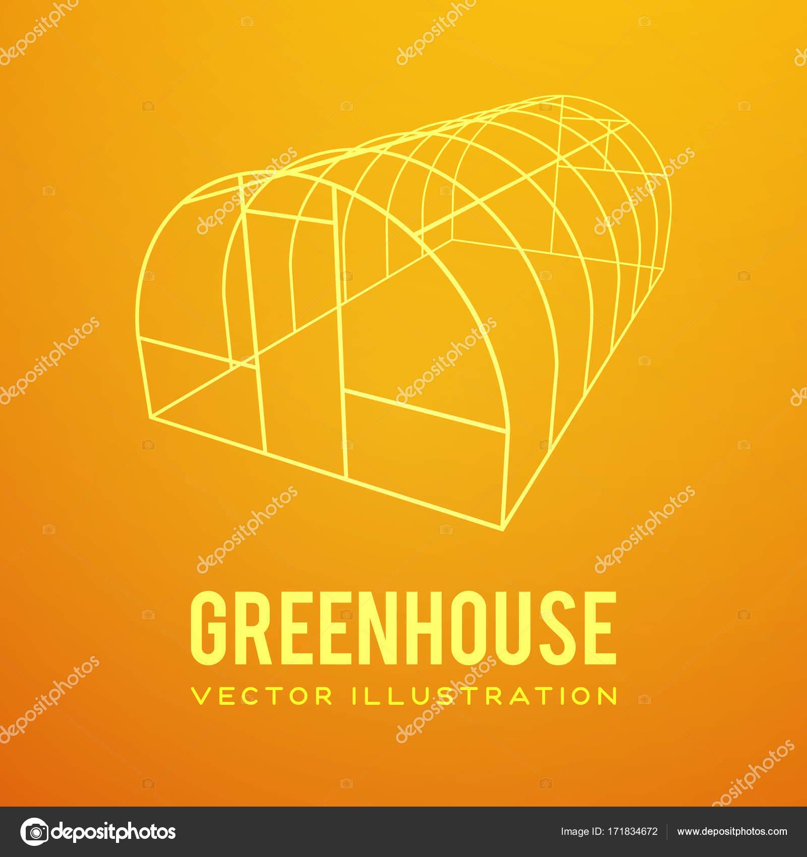 Marco de construcción de invernadero — Vector de stock © newb1 ...