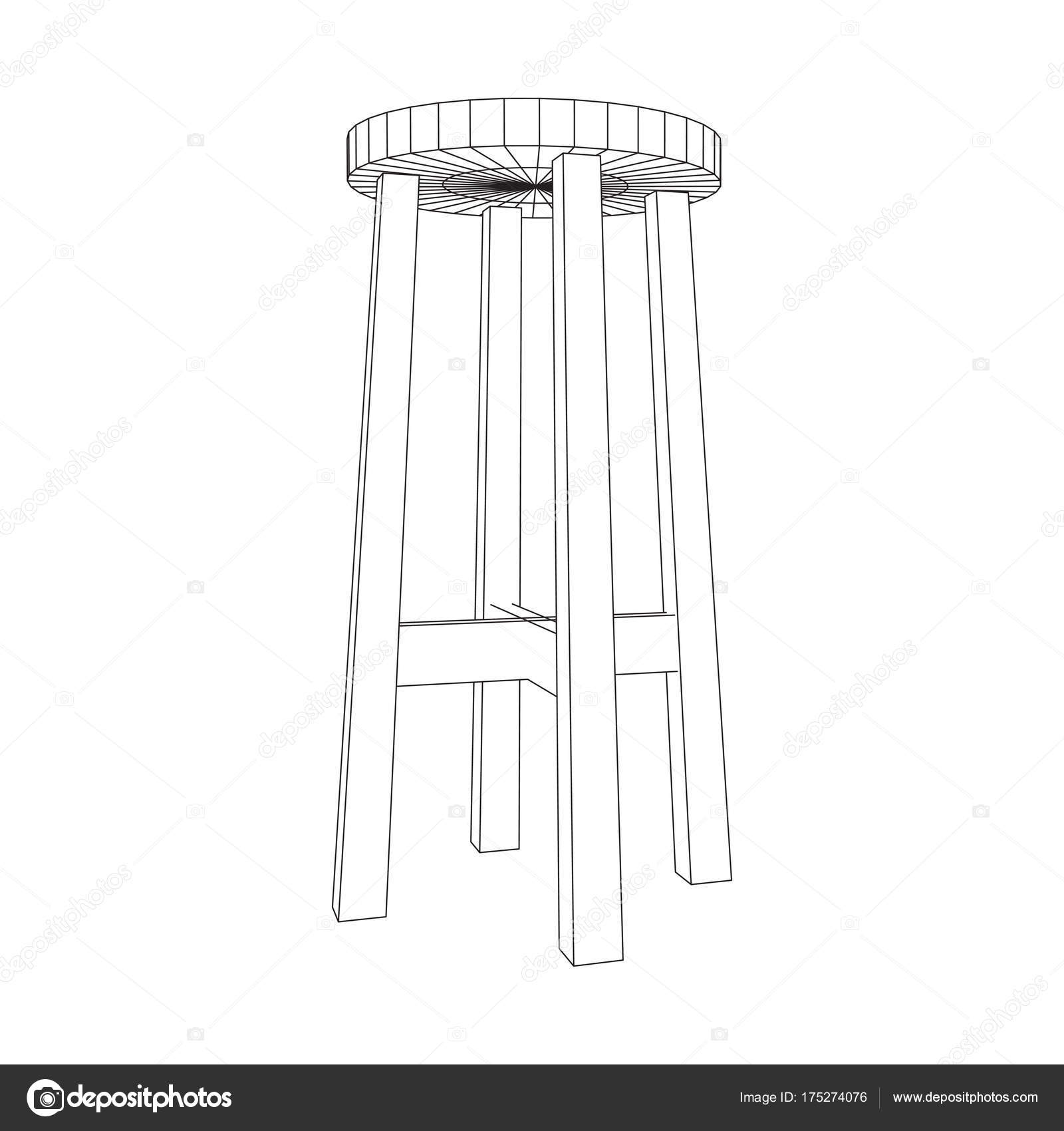Bar stool furniture wireframe blueprint stock vector newb1 bar stool furniture wireframe blueprint stock vector malvernweather Choice Image